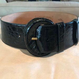Black Donna Karan Crocodile Belt